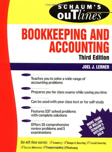 9780070375932: Schaum's Outline of Bookkeeping and Accounting