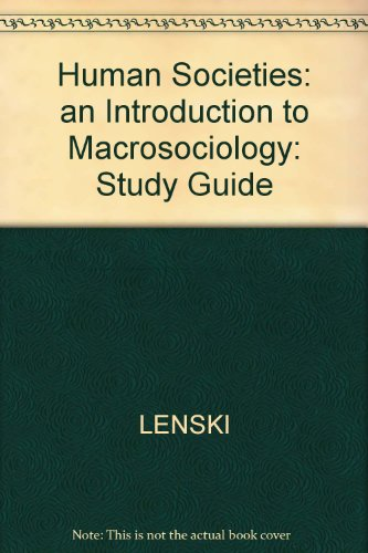 9780070376984: Study Guide for Use With Human Societies
