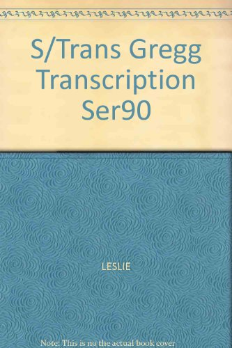 9780070377417: S/Trans Gregg Transcription Ser90