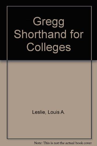 9780070377523: Gregg Shorthand for Colleges