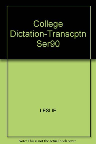 9780070377653: College Dictation for Transcription, Series 90