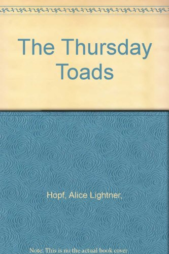 9780070378346: The Thursday Toads