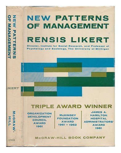 9780070378506: New Patterns of Management