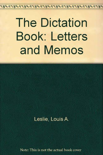9780070379206: The Dictation Book: Letters and Memos (Series 90)