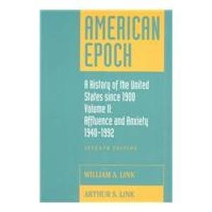 9780070379527: American Epoch: A History of The United States Since 1900, Vol. II: Since 1945