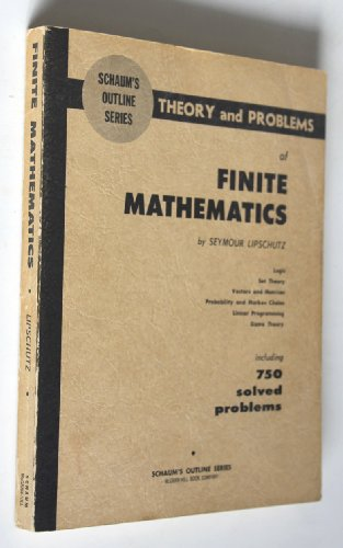 9780070379879: Schaum's Outline of Finite Mathematics
