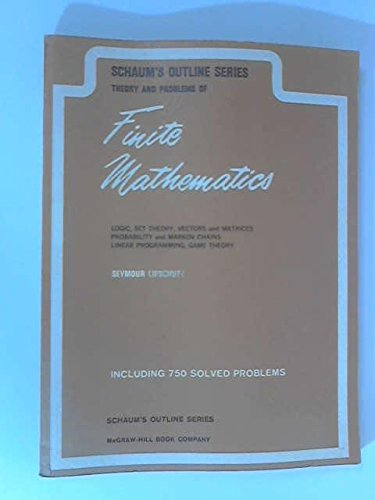 Schaum's Outline of Finite Mathematics (9780070379879) by Seymour Lipschutz