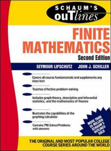 9780070380028: Schaum's Outline of Finite Mathematics