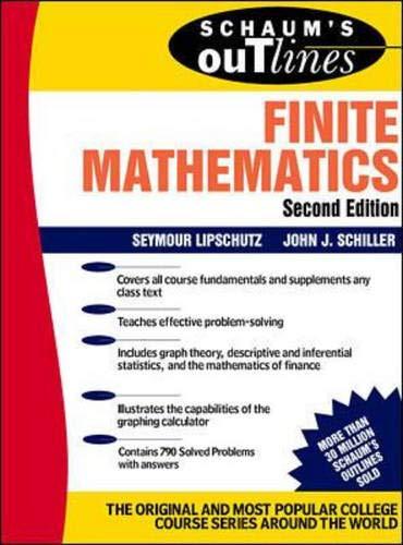 9780070380028: Schaum's Outline of Finite Mathematics