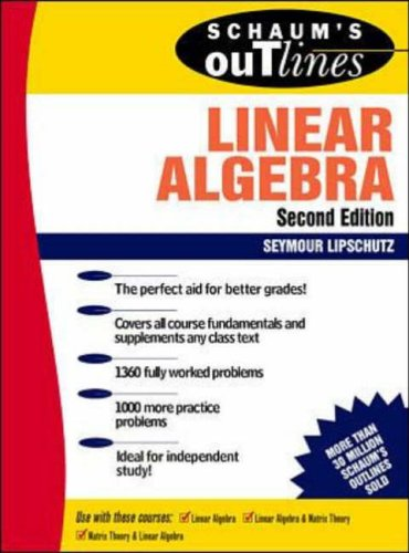 9780070380073: Schaum's Outline of Theory and Problems of Linear Algebra