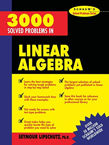 9780070380233: 3,000 Solved Problems in Linear Algebra
