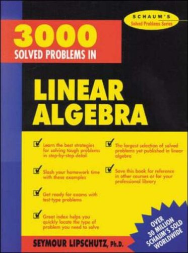 9780070380233: 3,000 Solved Problems in Linear Algebra (Schaum's Solved Problems Series)