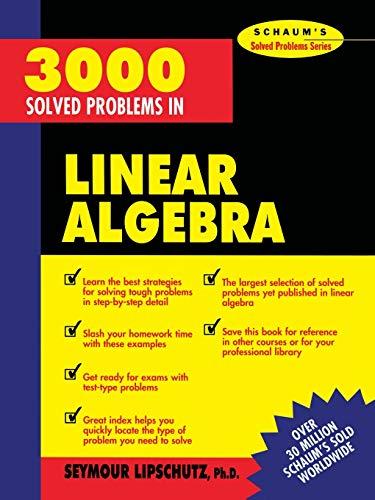 9780070380233: 3,000 Solved Problems in Linear Algebra