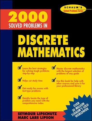 9780070380318: 2000 Solved Problems in Discrete Mathematics (Schaum's Solved Problems Series)