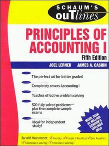 9780070381490: Schaum's Outline of Principles of Accounting I (Schaum's)