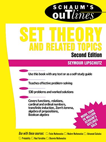 9780070381599: Schaum's Outline of Set Theory and Related Topics