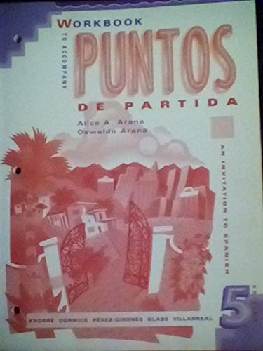 9780070382282: Workbook to Accompany Puntos de Partida: An Invitation to Spanish
