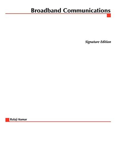 9780070382930: Broadband Communications