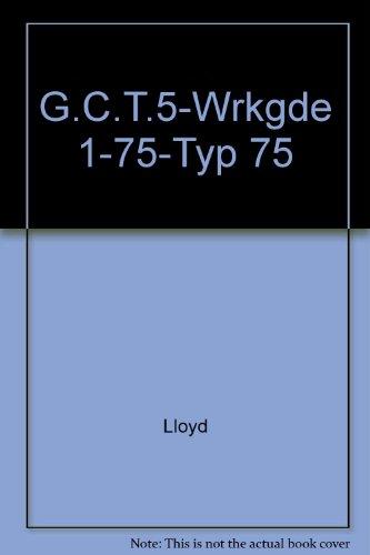 9780070383258: G.C.T.5-Wrkgde 1-75-Typ 75