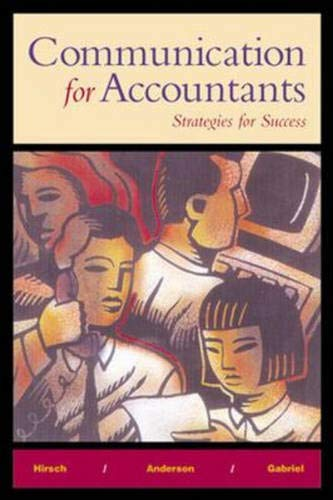 9780070383906: Communication for Accountants: Strategies for Success