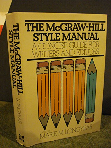 9780070386761: McGraw Hill Style Manual: Concise Guide for Writers and Editors