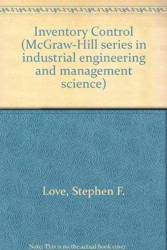 9780070387829: Inventory Control (McGraw-Hill series in industrial engineering and management science)