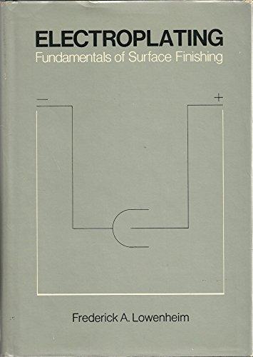 9780070388369: Electroplating: Fundamentals of Surface Finishing