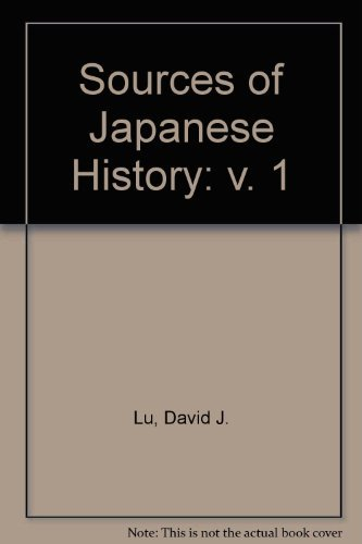 9780070389045: Sources of Japanese History (Volume One)