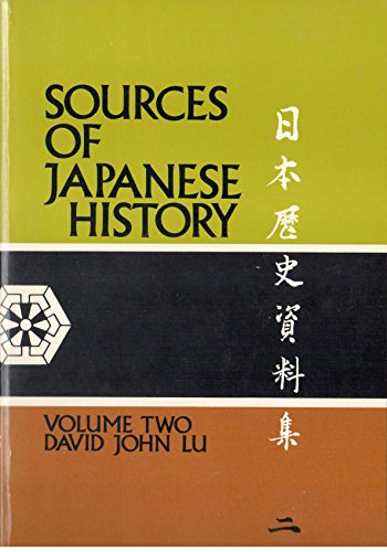 9780070389052: Sources of Japanese History: v. 2
