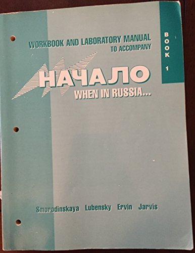 9780070389182: Workbook and Laboratory Manual to Accompany Nachalo: When in Russia : Book 1