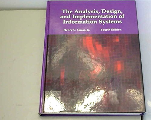 9780070389335: The Analysis, Design, and Implementation of Information Systems