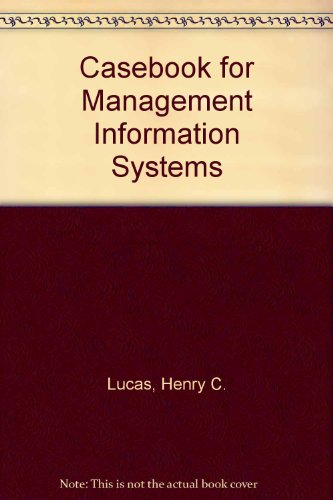 9780070389380: A casebook for management information systems (McGraw-Hill series in management information systems)