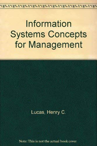 9780070389953: Information Systems Concepts for Management