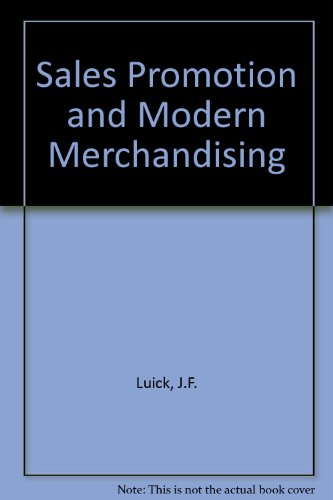 9780070389991: Sales Promotion & Modern Merchandising