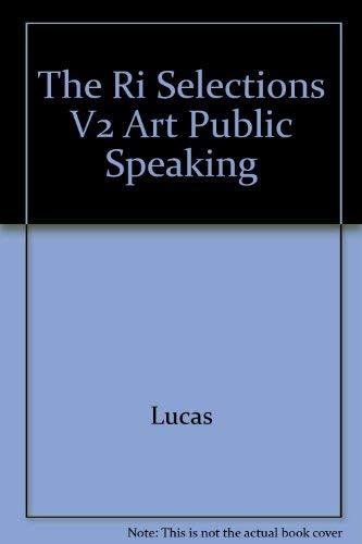 9780070390300: The Ri Selections V2 Art Public Speaking
