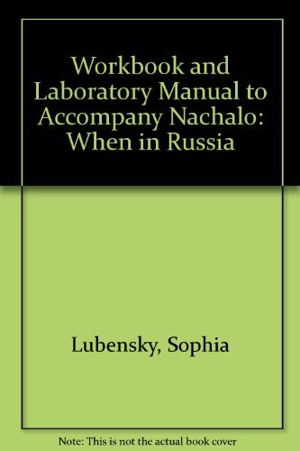 9780070390423: Workbook and Laboratory Manual to Accompany Nachalo : When in Russia : Book 2