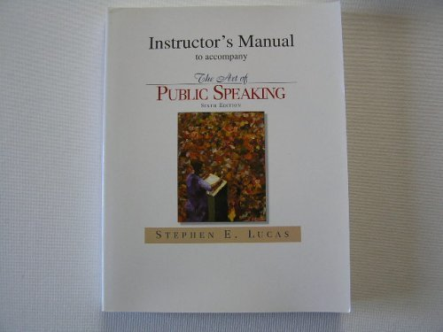 9780070390669: The Art of Public Speaking : Instructor's Manual