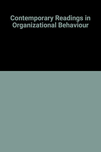 9780070391178: Contemporary Readings in Organizational Behaviour (McGraw-Hill series in management)