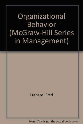 9780070391444: Organizational behavior (McGraw-Hill series in management)