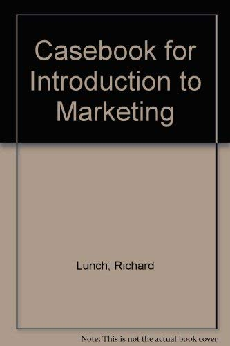 9780070391925: Casebook for Introduction to Marketing
