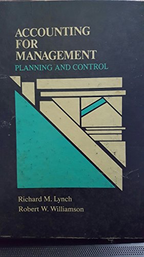 9780070392212: Accounting for Management: Planning and Control