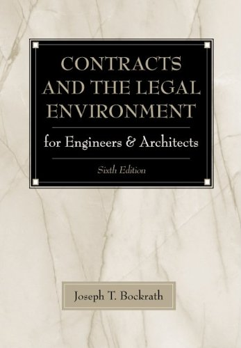9780070393639: Contracts and the Legal Environment for Engineers and Architects