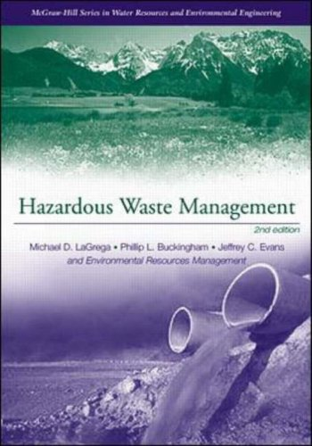 9780070393653: Hazardous Waste Management (Environmental Engineering and Water Resources)