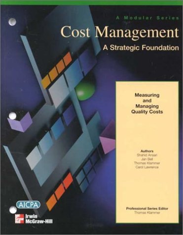 9780070394087: Measuring and Managing Quality Costs: Professional Series