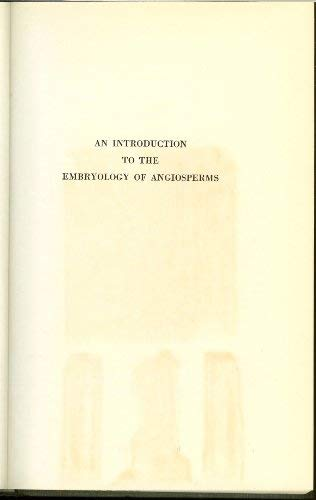 9780070396203: Introduction to the Embryology of Angiosperms: 1950 Edition