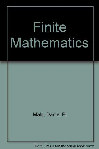 9780070397453: Finite Mathematics