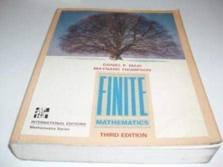 9780070397477: Finite mathematics