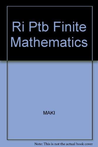 9780070397668: Ri Ptb Finite Mathematics