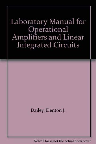 9780070399327: Laboratory Manual for Operational Amplifiers and Linear Integrated Circuits