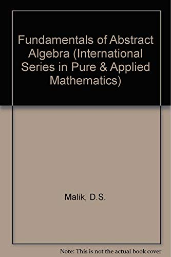 9780070400351: Fundamentals of Abstract Algebra (International Series in Pure & Applied Mathematics)